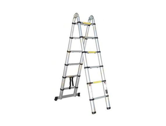 Лестница-стремянка телескопическая алюминиевая 2-секционная STARTUL (160/320см)