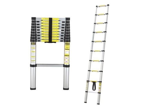 Лестница телескопическая алюминиевая 1-секционная STARTUL (320см)