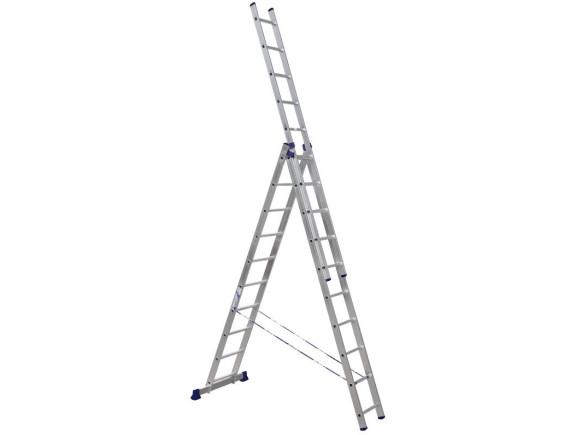 Лестница трехсекционная Алюмет 3х10 ступеней (5310)
