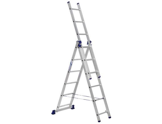 Лестница трехсекционная Алюмет 3х6 ступеней (5306)