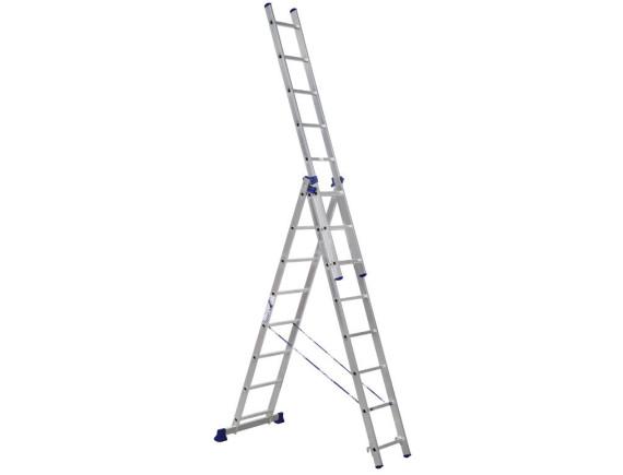 Лестница трехсекционная Алюмет 3х8 ступеней (5308)