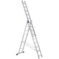 Лестница трехсекционная Алюмет 3х9 ступеней (5309)