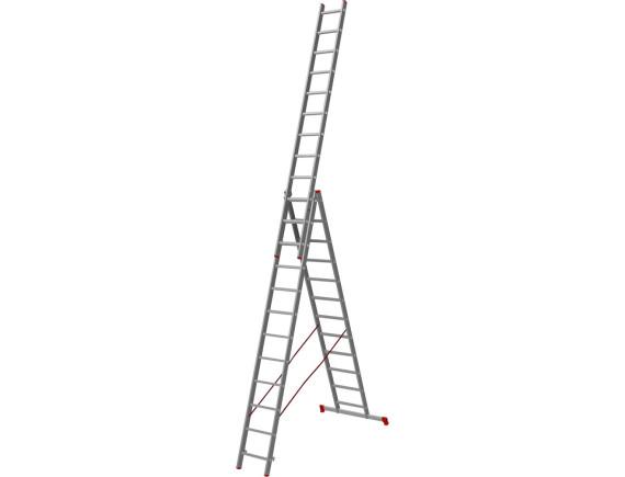 Лестница трехсекционная Новая Высота (3х12 ступеней)