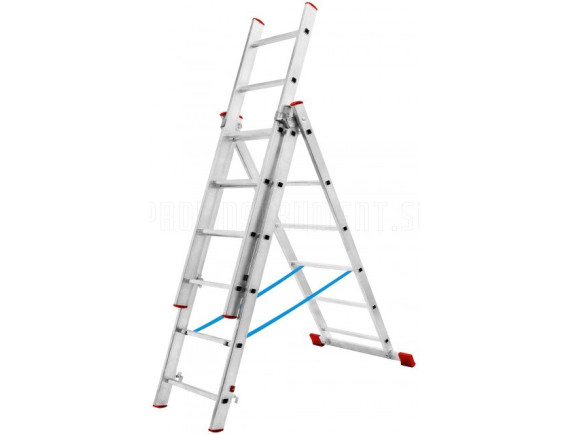 Лестница трехсекционная Новая Высота (3х6 ступеней)