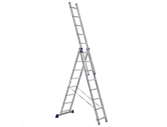 Лестница трехсекционная Новая Высота (3х9 ступеней)