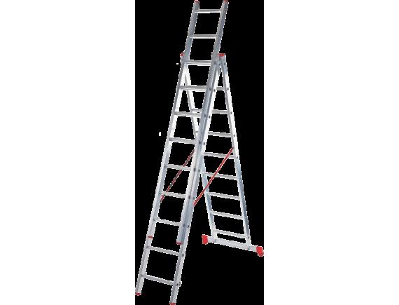 Лестница трехсекционная Новая Высота Vira 3x11 ступеней