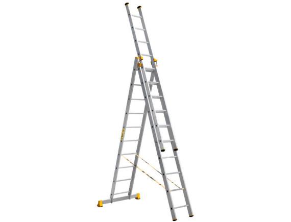 Лестница трехсекционная профессиональная Алюмет 3x10 (9310)