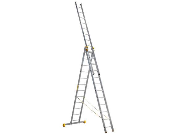 Лестница трехсекционная профессиональная Алюмет 3x12 (9312)