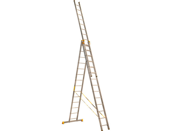 Лестница трехсекционная профессиональная Алюмет 3x14 (9314)