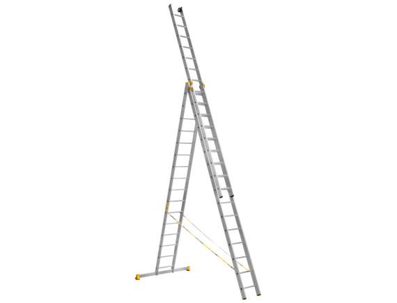 Лестница трехсекционная профессиональная Алюмет 3x16 (9316)