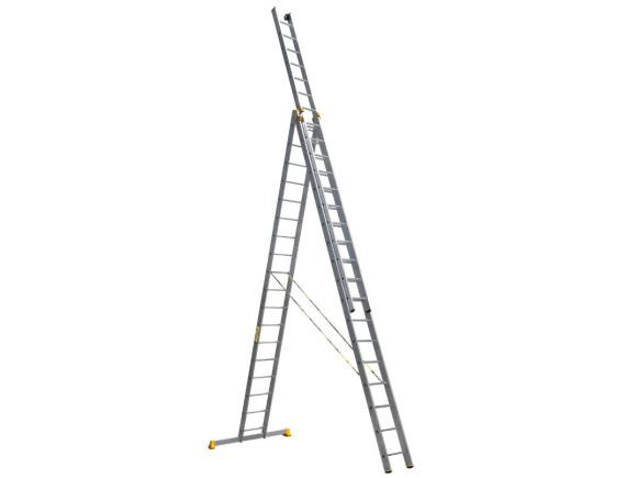 Лестница трехсекционная профессиональная Алюмет 3x18 (9318)