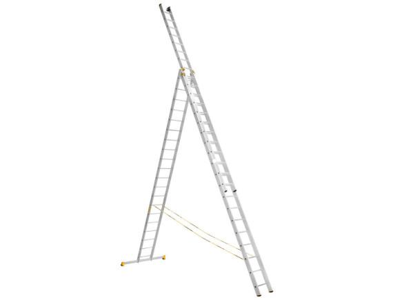 Лестница трехсекционная профессиональная Алюмет 3x20 (9320)