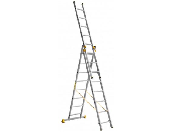 Лестница трехсекционная профессиональная Алюмет 3x8 (9308)