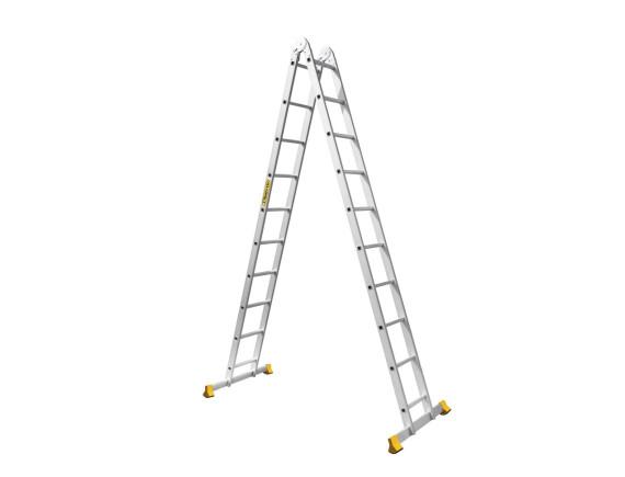 Лестница двухсекционная шарнирная Алюмет (2х10 ступеней)