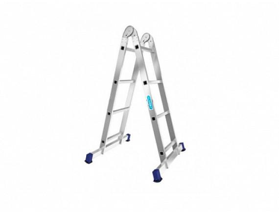 Лестница двухсекционная шарнирная Алюмет (2х3 ступени)
