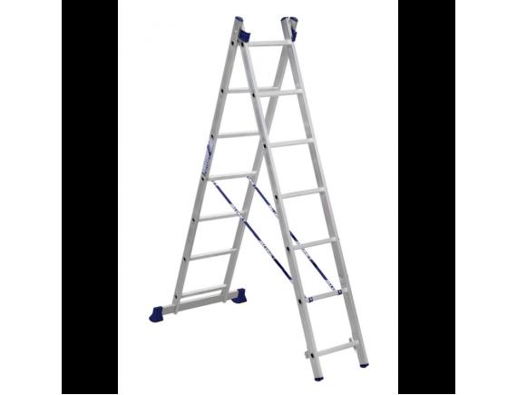 Лестница-стремянка двухсекционная Алюмет 2x6 ступеней (5206)
