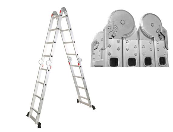 Лестница-трансформер алюминиевая шарнирная STARTUL (4х4 ступ.)