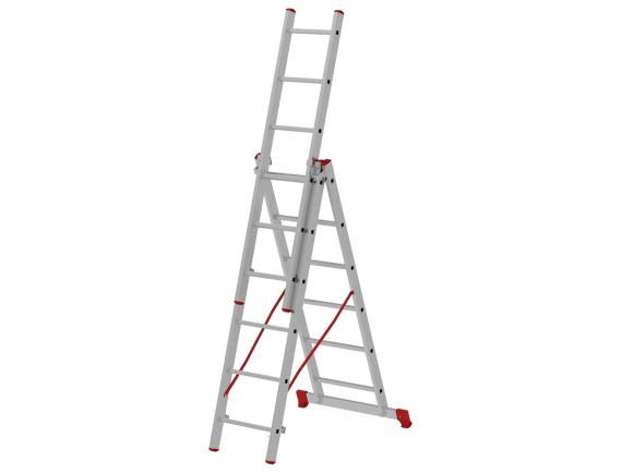 Лестница трехсекционная Новая Высота Vira 3x6 ступеней