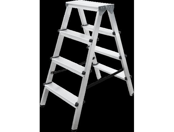 Стремянка алюминиевая двухсторонняя Новая Высота Vira (2x4)