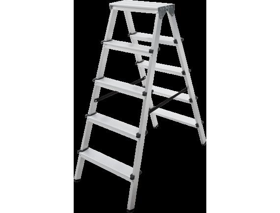 Стремянка алюминиевая двухсторонняя Новая Высота Vira (2x5)
