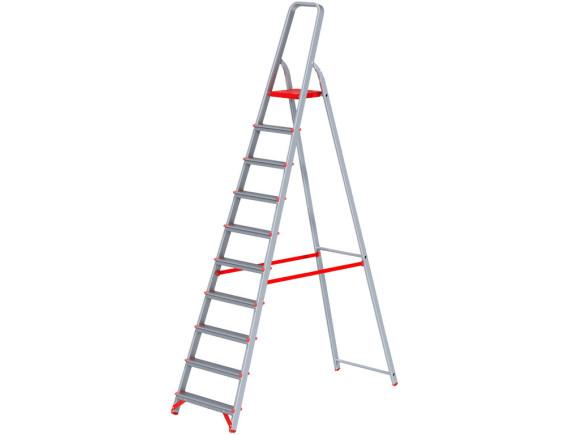 Стремянка алюминиевая профессиональная Новая Высота (10 ступеней)