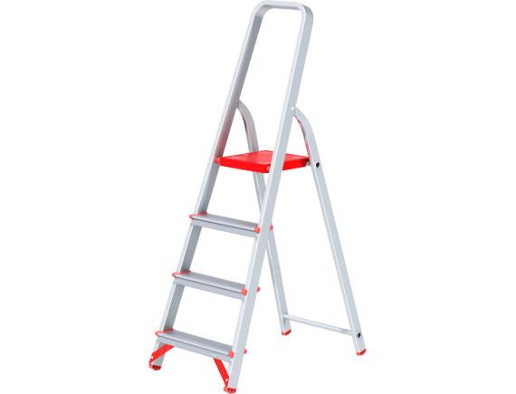 Стремянка алюминиевая профессиональная Новая Высота (4 ступени)