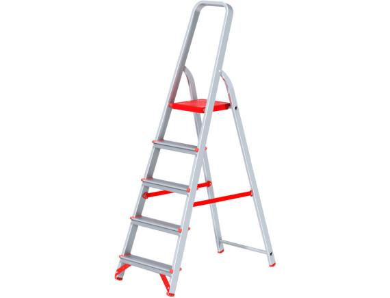 Стремянка алюминиевая профессиональная Новая Высота (5 ступеней)