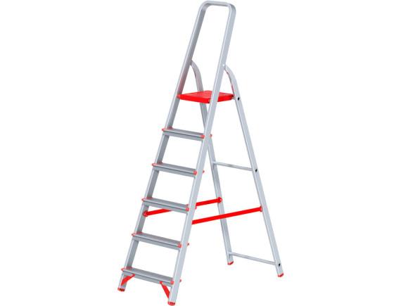 Стремянка алюминиевая профессиональная Новая Высота (6 ступеней)