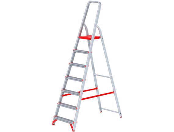 Стремянка алюминиевая профессиональная Новая Высота (7 ступеней)