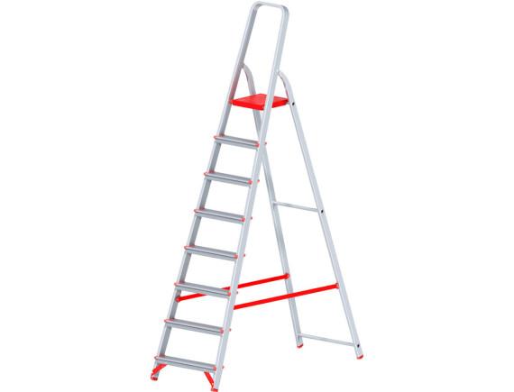 Стремянка алюминиевая профессиональная Новая Высота (8 ступеней)