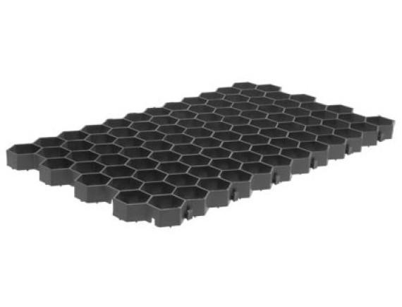 Решетка газонная черная с ячейкой сота
