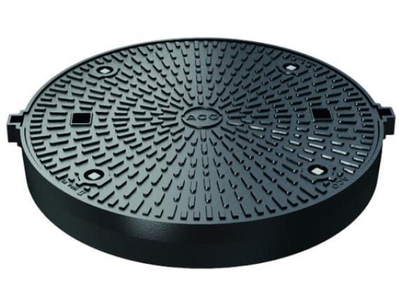 Канализационный люк чугунный ACO Multitop (круглый, 800мм, герметичный)