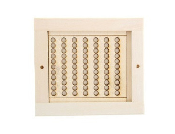 Вентиляционная решетка для бани малая (с задвижкой)