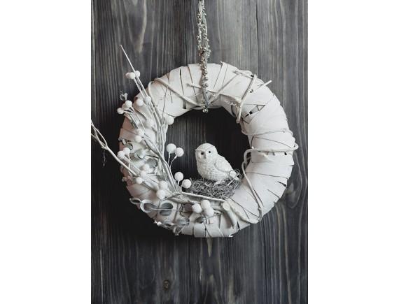 Авторский рождественский венок Lace&Grace (белый)