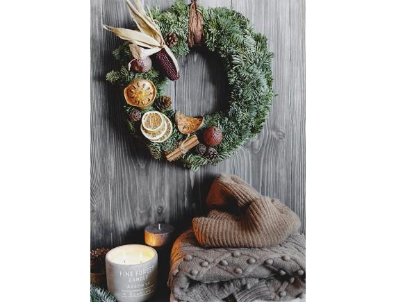Авторский рождественский венок Lace&Grace (зеленый)