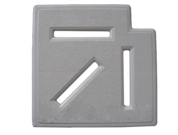 Угловой элемент переливной решетки 90°