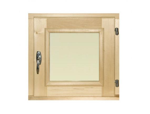 Окно-форточка для бани (стеклопакет, липа)