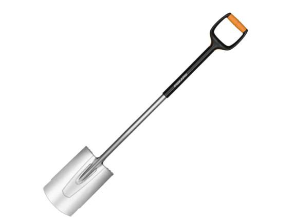 Лопата с закругленным лезвием Fiskars Xact (М)