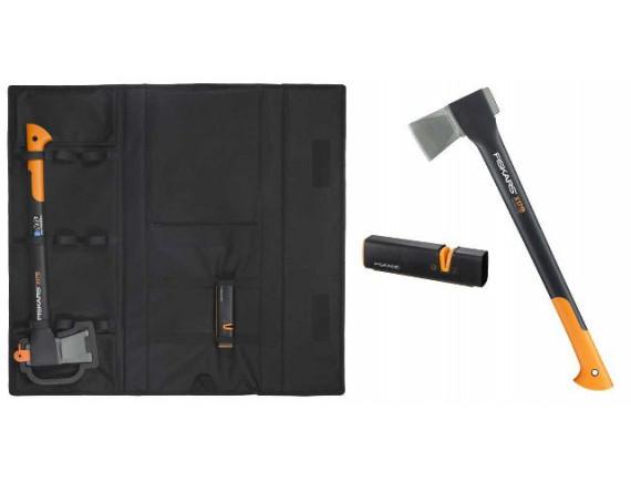 Топор – колун X17 Fiskars + точилка + сумка