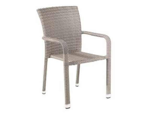 Кресло из ротанга штабелируемое CARLOS бежево-серое