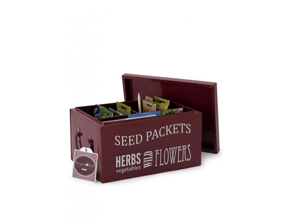 Контейнер с крышкой для хранения семян Burgon & Ball (бордовый)