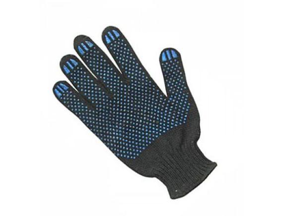 Рабочие перчатки трикотажные (черные)