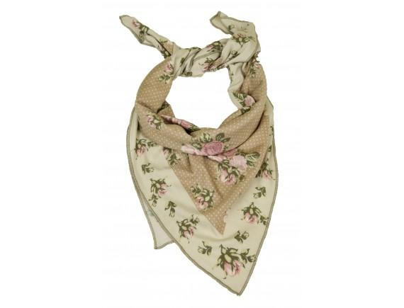 Шейный платок - шарфик GardenGirl Roses Collection (бежевый)