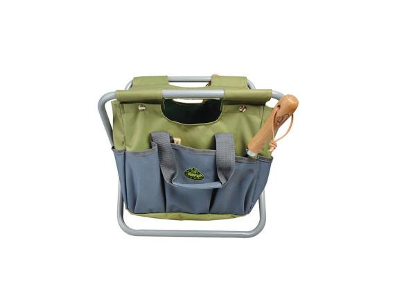 Садовый стул с сумкой для инструментов Esschert Design (серый)