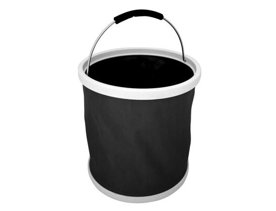 Ведро резиновое складное Burgon & Ball (черное)