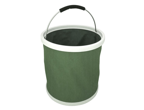 Ведро резиновое складное Burgon & Ball (зеленое)