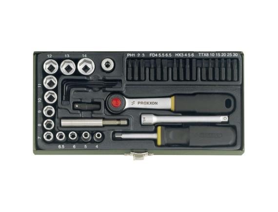 Набор бит и головок с намагниченным переходником Proxxon Industrial (39 штук)